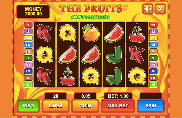 Caça níqueis fruta 13714