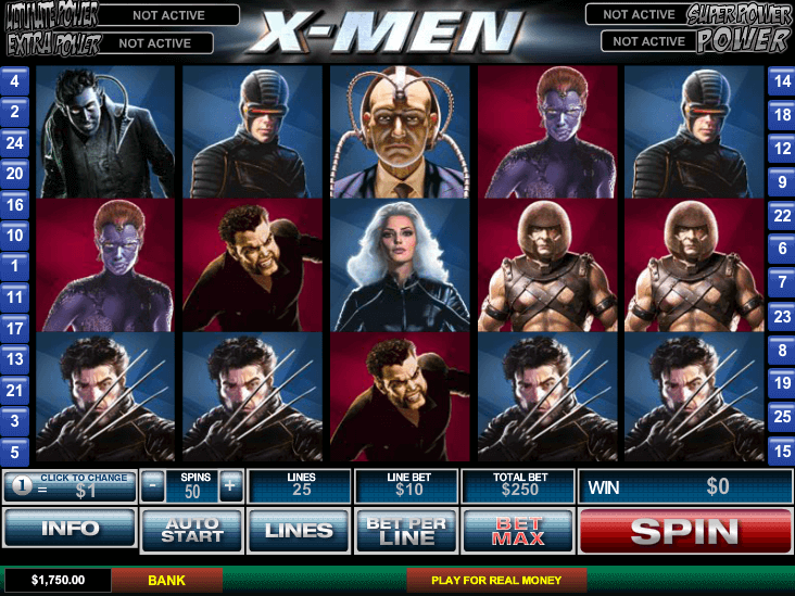 X-men caça níquel 65577