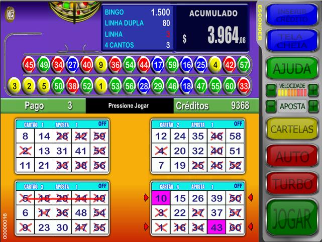 Baccarat jogo video bingo 20585