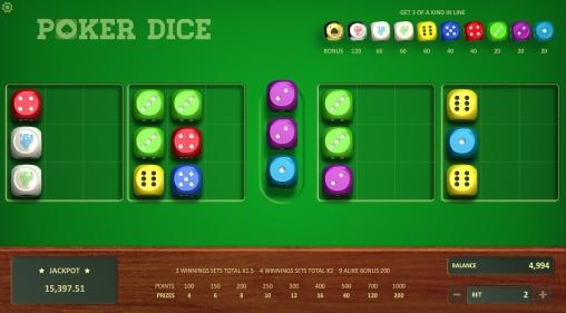 Poker dice 54421