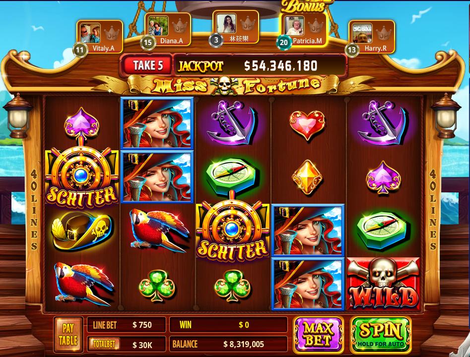 Pirates vídeo bingo Vegas 62209