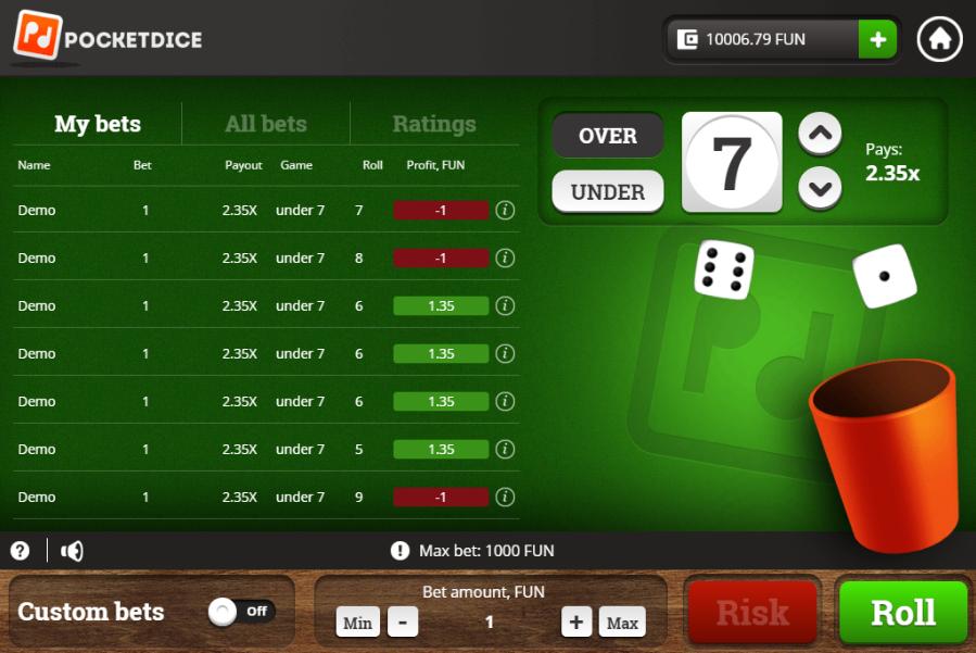 Pocket dice app bets 26751