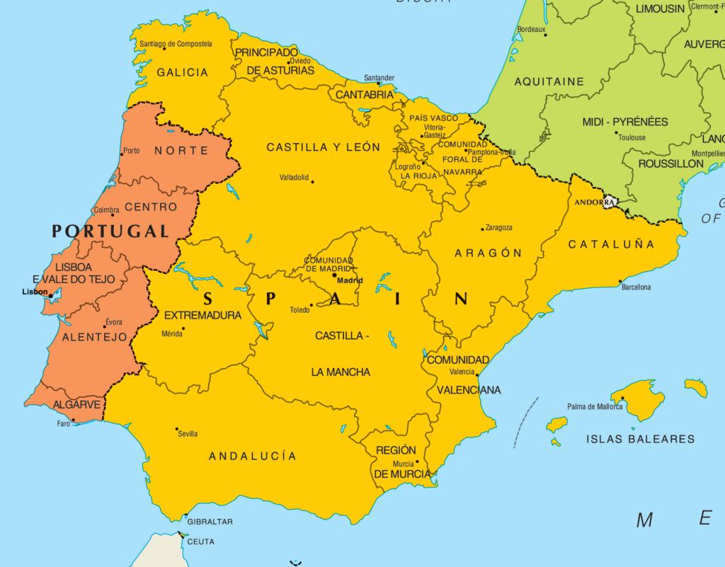 Portugal mapa 12228